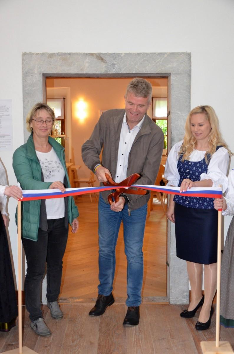 Uradno odprli prostore nove kavarne na Dvorcu Visoko