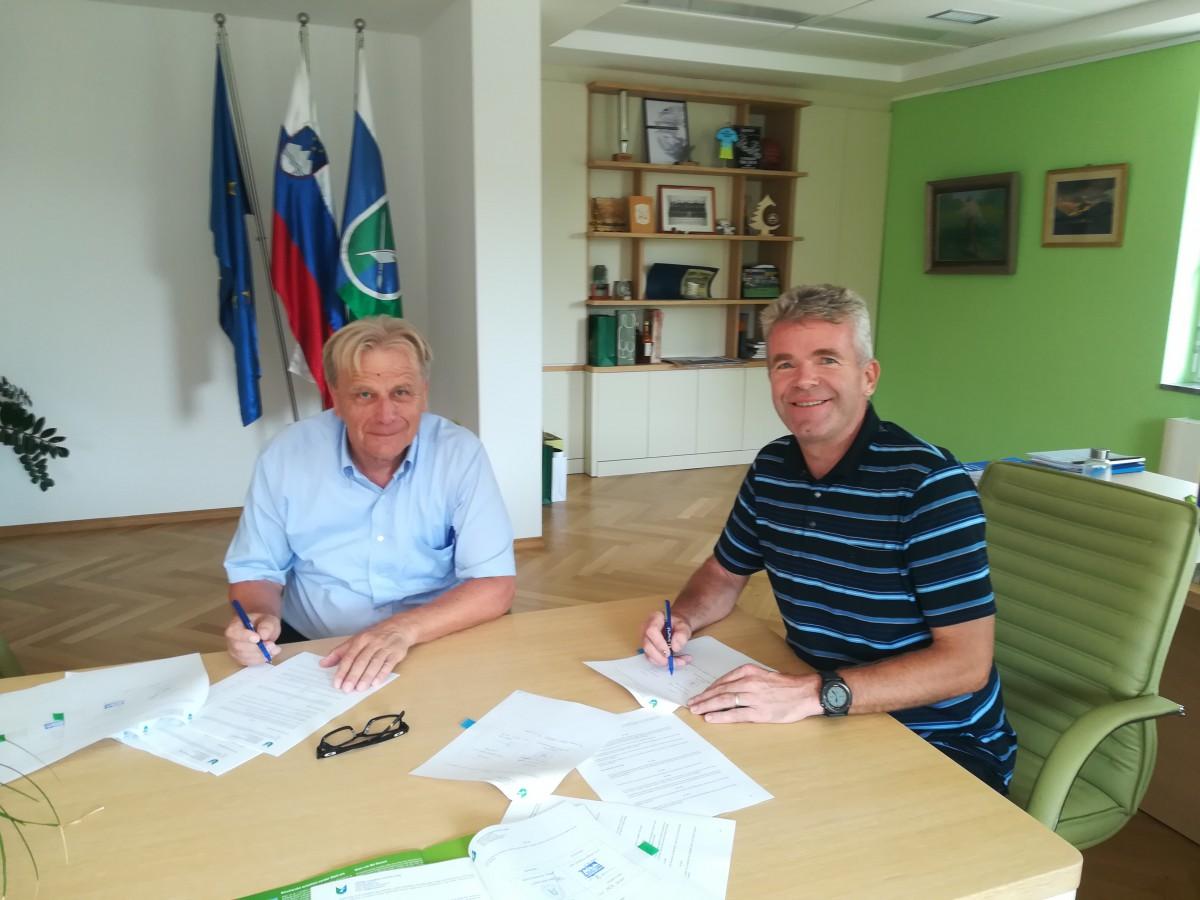 Podpis pogodbe za gradnjo Fortunove brvi