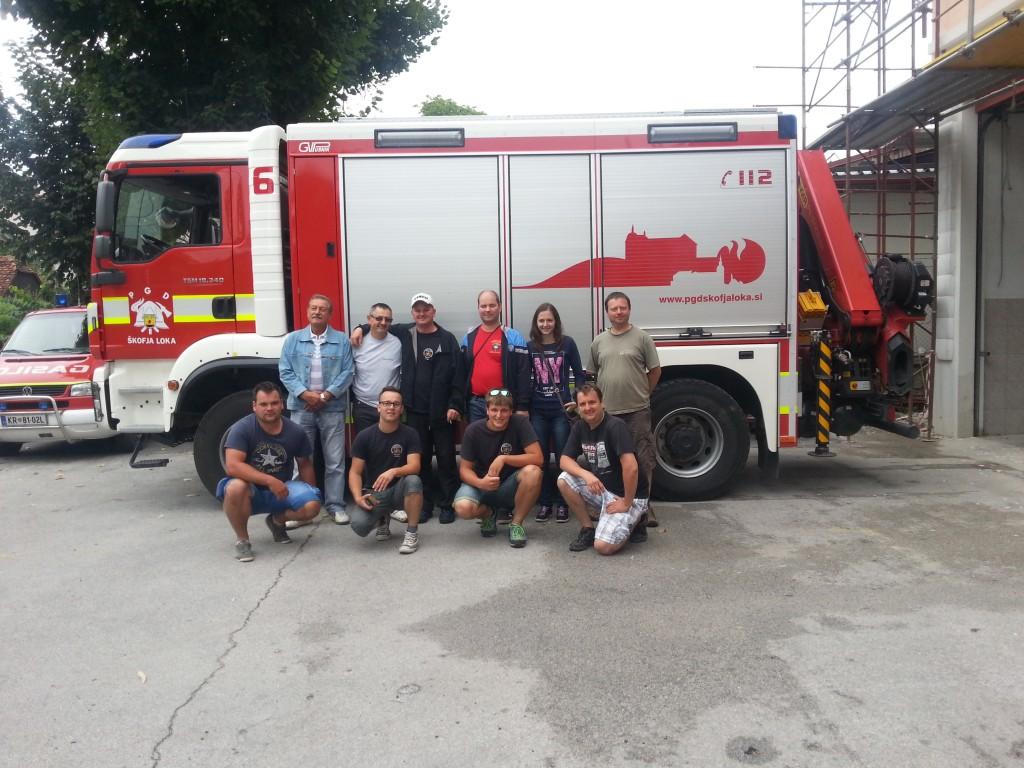 Obisk čeških gasilcev v Poljanah