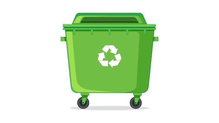 Odpadki v gospodinjstvih z bolniki sodijo v posodo za mešane komunalne odpadke