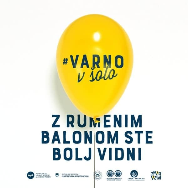 #Varno v šolo z rumenim balonom!
