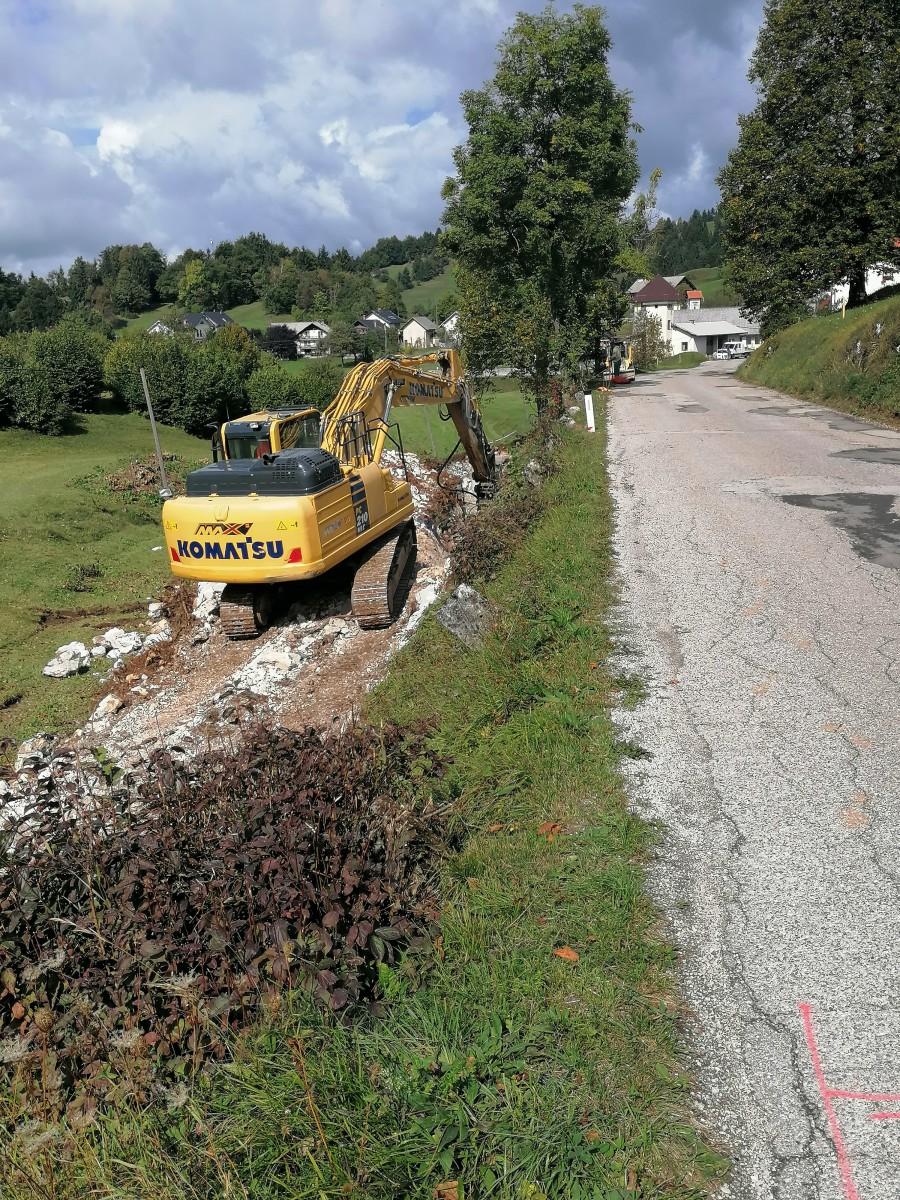 Pričetek gradbenih del na regionalni cesti Lučine - Suhi dol