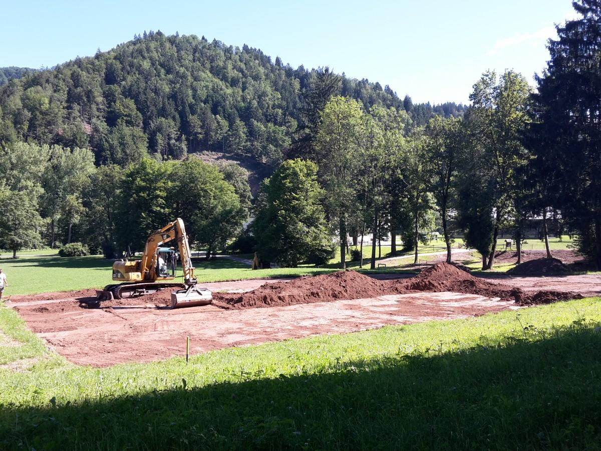Gradnja tenis igrišča na Visokem se je pričela